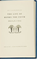 Books:Literature Pre-1900, [William Shakespeare.] R. J. Dorius, editor. The Life of Henrythe Fifth. New Haven: Yale University Press, [195...