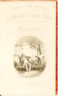 Books:Literature Pre-1900, Charles Dickens. Dombey and Son. London: Bradbury and Evans,1848. First Edition. Illustrations by H. K. Browne, or ...