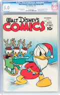 Golden Age (1938-1955):Cartoon Character, Walt Disney's Comics and Stories #39 (Dell, 1943) CGC VG/FN 5.0Off-white to white pages....