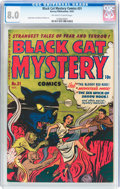 Golden Age (1938-1955):Horror, Black Cat Mystery #31 (Harvey, 1951) CGC VF 8.0 Off-white to whitepages....