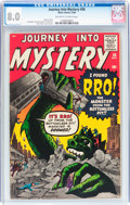 Silver Age (1956-1969):Science Fiction, Journey Into Mystery #58 (Marvel, 1960) CGC VF 8.0 Off-white to white pages....