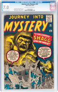 Silver Age (1956-1969):Mystery, Journey Into Mystery #59 (Marvel, 1960) CGC FN/VF 7.0 Off-white towhite pages....
