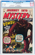 Silver Age (1956-1969):Horror, Journey Into Mystery #60 (Marvel, 1960) CGC VF- 7.5 Off-white towhite pages....