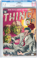 Golden Age (1938-1955):Horror, The Thing! #1 (Charlton, 1952) CGC VF- 7.5 Off-white to whitepages....