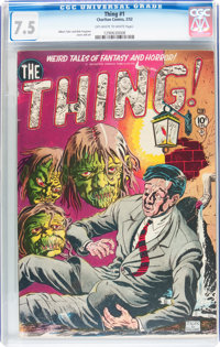 The Thing! #1 (Charlton, 1952) CGC VF- 7.5 Off-white to white pages