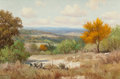 Texas:Early Texas Art - Regionalists, PORFIRIO SALINAS (American, 1910-1973). Hill Country at Summer'sEnd. Oil on canvas. 20 x 30 inches (50.8 x 76.2 cm). Si...