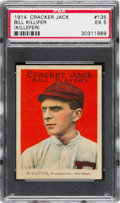 Baseball Cards:Singles (Pre-1930), 1914 Cracker Jack Bill Killefer #135 PSA EX 5 - Pop One, TwoHigher. ...