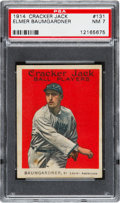 Baseball Cards:Singles (Pre-1930), 1914 Cracker Jack Elmer Baumgardner #131 PSA NM 7 - Pop One, NoneHigher! ...