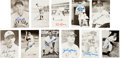 Autographs:Post Cards, 1940's-80's Hall of Famers & Baseball Greats Signed Postcards Lot of Approximately 75....