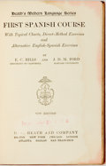 Books:Reference & Bibliography, [Spanish Language]. E.C. Hills and J.D.M. Ford. Heath's ModernLanguage Series. First Spanish Course with Topical Charts...