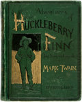 Books:Literature Pre-1900, [Featured Lot]. Mark Twain. Adventures of Huckleberry Finn (TomSawyer's Comrade). New York: Charles L. Webster,...