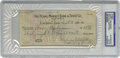 Autographs:Checks, 1930 Harry Heilmann Signed Check. Personal check from theCincinnati Reds traveling secretary was likely issued toHeilmann...