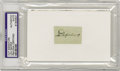 Autographs:Index Cards, Circa 1932 Lou Gehrig Signed Cut Signature. An inspiration in boththe way he played and in the way he stopped playing, Geh...