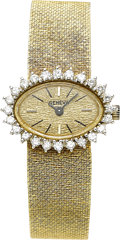 Estate Jewelry:Watches, Lady's Swiss Diamond, Gold Wristwatch. ...