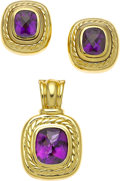 Estate Jewelry:Suites, Amethyst, Gold Jewelry Suite, David Yurman. ... (Total: 2 Items)