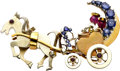 Estate Jewelry:Brooches - Pins, Retro Sapphire, Ruby, Gold Brooch. ...