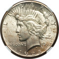 Peace Dollars, 1928 $1 MS65+ NGC. CAC....