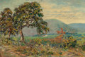 Texas:Early Texas Art - Impressionists, BIRD JONES (American, 1865-1944). Laguna Gloria. Oil oncanvas laid on board. 12 x 18 inches (30.5 x 45.7 cm). Signed an...