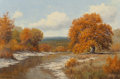 Texas:Early Texas Art - Regionalists, PALMER CHRISMAN (American, 1913-1984). Autumn RiverLandscape. Oil on canvas. 24 x 36 inches (61.0 x 91.4 cm).Signed lo...