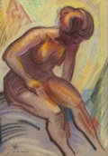 Texas:Early Texas Art - Drawings & Prints, OLIN TRAVIS (American, 1888-1975). The Bather. Pastel onpaper. 20 x 14 inches (50.8 x 35.6 cm) (sight). Signed lower le...