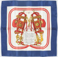 "Luxury Accessories:Accessories, Hermes 40cm Red, White & Blue ""Brides de Gala,"" by Hugo GrygkarSilk Pochette Scarf. Excellent Condition. 16"" Width x..."