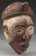 Tribal Art, KONGO MASK. (DEMOCRATIC REPUBLIC OF THE CONGO, REPUBLIC OF THECONGO OR ANGOLA; CENTRAL AFRICA)...