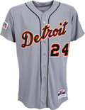 Baseball Collectibles:Uniforms, 2014 Miguel Cabrera Game Worn Detroit Tigers Jersey - Photomatched to Postseason Home Run. ...