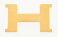 "Luxury Accessories:Accessories, Hermes Brushed Gold H Buckle . Very Good to ExcellentCondition . 2"" Width x 1.5"" Height . ..."