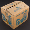 Baseball Cards:Unopened Packs/Display Boxes, 1989 Topps Traded Baseball Factory Case With 16 Sets. ...