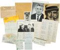 Football Collectibles:Others, Johnny Blood McNally Handwritten Ephemera and More (14 Pieces). ...