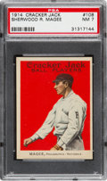 Baseball Cards:Singles (Pre-1930), 1914 Cracker Jack Sherwood R. Magee #108 PSA NM 7 - The HighestGraded Example! ...