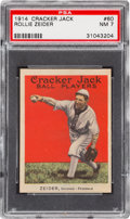 Baseball Cards:Singles (Pre-1930), 1914 Cracker Jack Rollie Zeider #60 PSA NM 7 -None Higher &Unique to '14 Set! ...