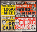 Boxing Collectibles:Memorabilia, Vintage Boxing Fight Posters Lot of 8....