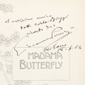 Books:Music & Sheet Music, [Giacomo Puccini, composer]. Madama Butterfly. Milano: G.Ricordi & C., 1904. New Edition. Presentation copy, insc...(Total: 2 Items)