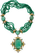 Estate Jewelry:Suites, Emerald, Diamond, Chalcedony, Gold Jewelry Suite, Balogh's. ...