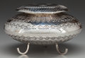 American Indian Art:Jewelry and Silverwork, A NAVAJO SILVER LIDDED BOWL. Leonard and Marian Nez. c. 1980...(Total: 2 Items)