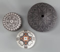 American Indian Art:Pottery, THREE MINIATURE LAGUNA/ACOMA SEED JARS. c. 1980... (Total: 3 Items)