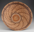 Paintings, A RARE CHUMASH POLYCHROME COILED BOWL. c. 1850...