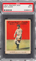 Baseball Cards:Singles (Pre-1930), 1914 Cracker Jack Nap Lajoie #66 PSA EX 5 - Only One Higher. ...