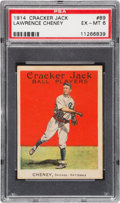 Baseball Cards:Singles (Pre-1930), 1914 Cracker Jack Lawrence Cheney #89 PSA EX-MT 6 - None Higher!...