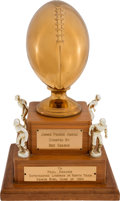 Football Collectibles:Others, 1964 Paul Krause Outstanding Lineman of Senior Bowl Game Trophy - Donated by Red Grange!...