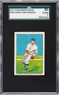 Baseball Cards:Singles (Pre-1930), 1911-14 D304 Brunners Bread Christy Mathewson SGC 80 EX/NM 6....