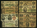 A Group of Nine Large Size Type Notes