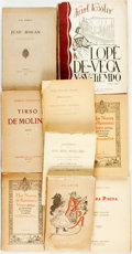 Books:Literature Pre-1900, [Spanish Literature]. Group of nine Books. Various publishers anddates. ... (Total: 9 Items)