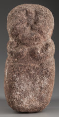 American Indian Art:Pottery, A SOUTHWEST CARVED STONE EFFIGY. Rio Grande Valley. c. 1300 AD. ...
