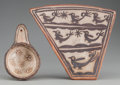 American Indian Art:Pottery, TWO POLACCA POLYCHROME POTTERY ITEMS. c. 1870... (Total: 2 Items)