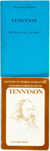 Books:Biography & Memoir, [Tennyson]. Two Books on Alfred Tennyson. Various publishers anddates. ... (Total: 2 Items)
