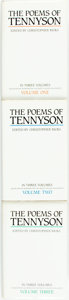 Books:Literature 1900-up, [Tennyson]. Christopher Ricks, editor. The Poems of Tennyson in Three Volumes. Second Edition Incorporating the Trinity ... (Total: 3 Items)