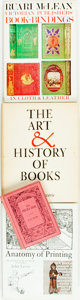 Books:Books about Books, [Books about Books]. Group of Four Books on the History of Printing and Bookbinding. Various publishers and dates. ... (Total: 4 Items)