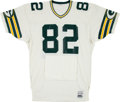 Football Collectibles:Uniforms, 1984-85 Paul Coffman Game Worn Green Bay Packers Jersey - With Built In Handwarmers....
